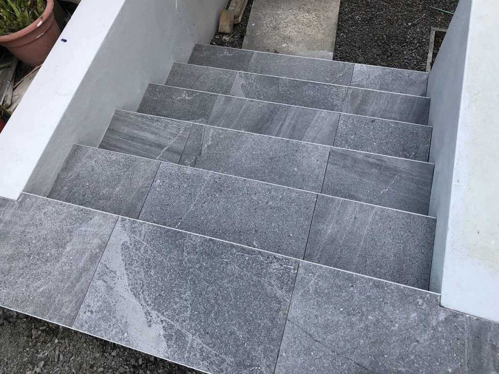 exterior tiling stairs auckland