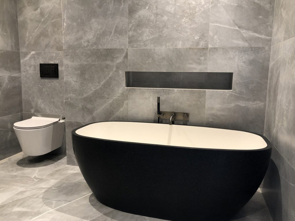 Designer bathroom tiling - Freemans Bay, Auckland