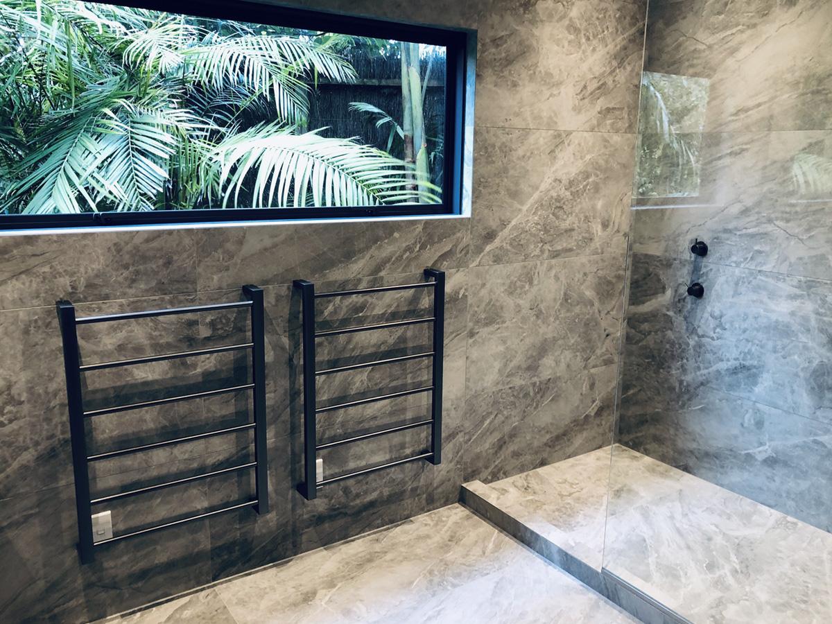 Designer bathroom tiling - Ponsonby, Auckland